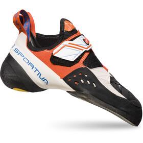La Sportiva Solution Climbing Shoes Women White/Lily Orange